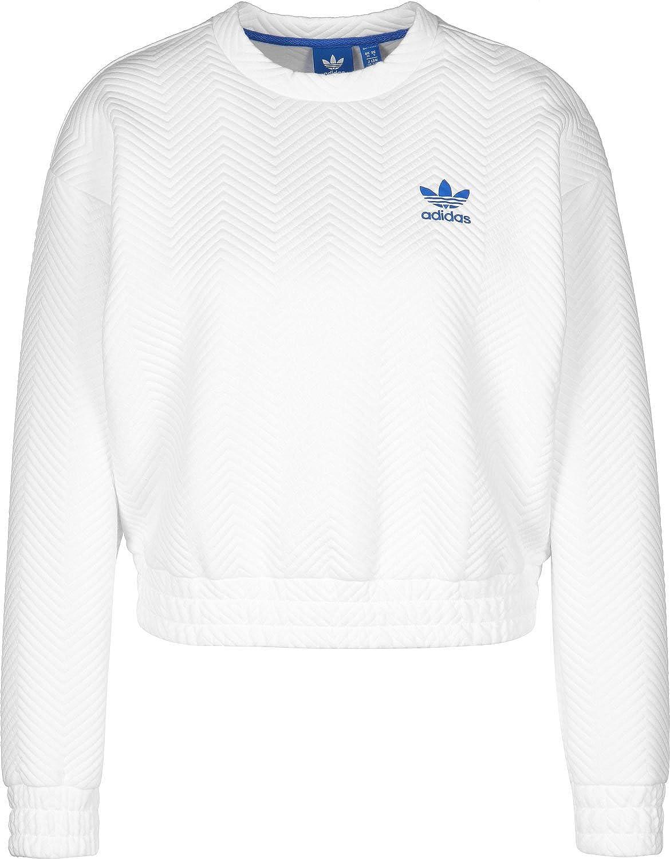 genéticamente pedazo máximo  adidas Originals Women New York Textured Chevron Sweatshirt BK5993 (L (US  12)) White at Amazon Women's Clothing store