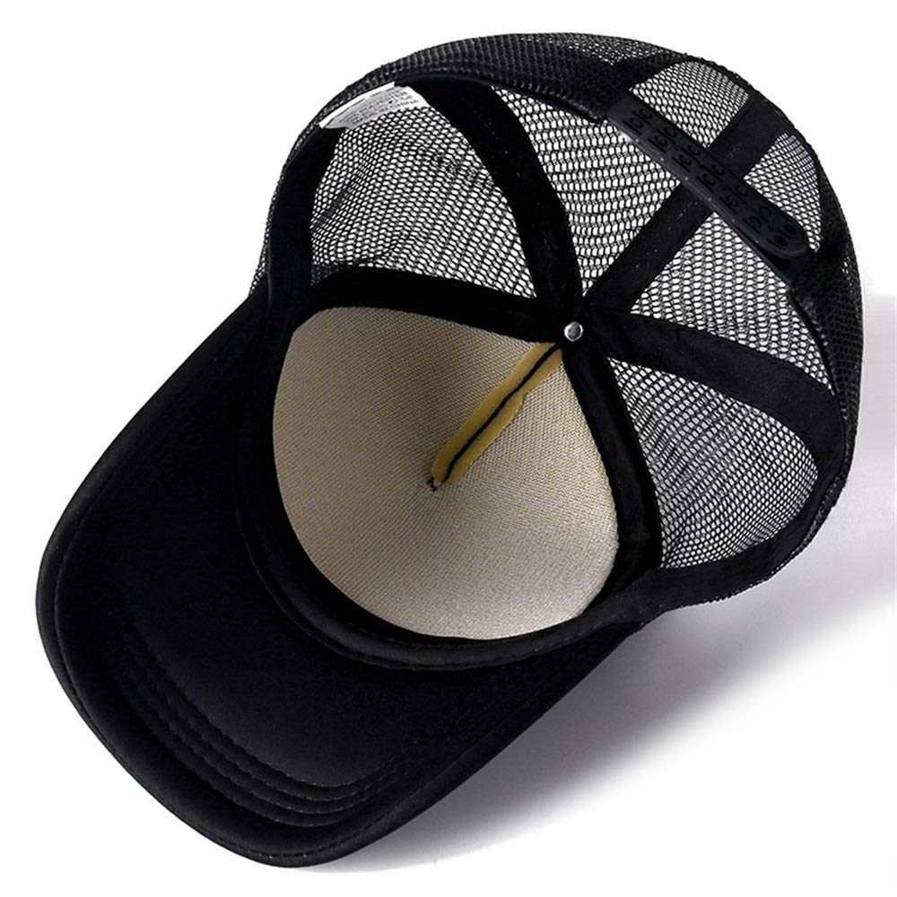 Color : Black White, Size : 54cm 60cm XIANGNAIZUI 1 PCS Unisex Cap Casual Plain Mesh Baseball Cap Adjustable Hats for Women Men Hip Hop Trucker Cap Streetwear Dad Hat hat