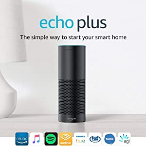 Echo Plus (1st Gen) – With built-in smart home hub, Black