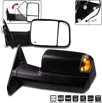 Mirror Power Heated Folding Flip-Up Passenger Right for Dodge Ram 1500 2500 3500
