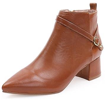De las mujeres Puntiagudo Retro Botas Hembra Botas de martin Zapatos Hecho a mano , Yellow