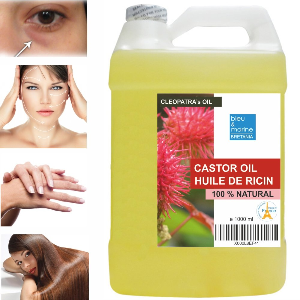 Rizinusöl - 100% reines Öl – 1000 ml Made in France 3701076201595
