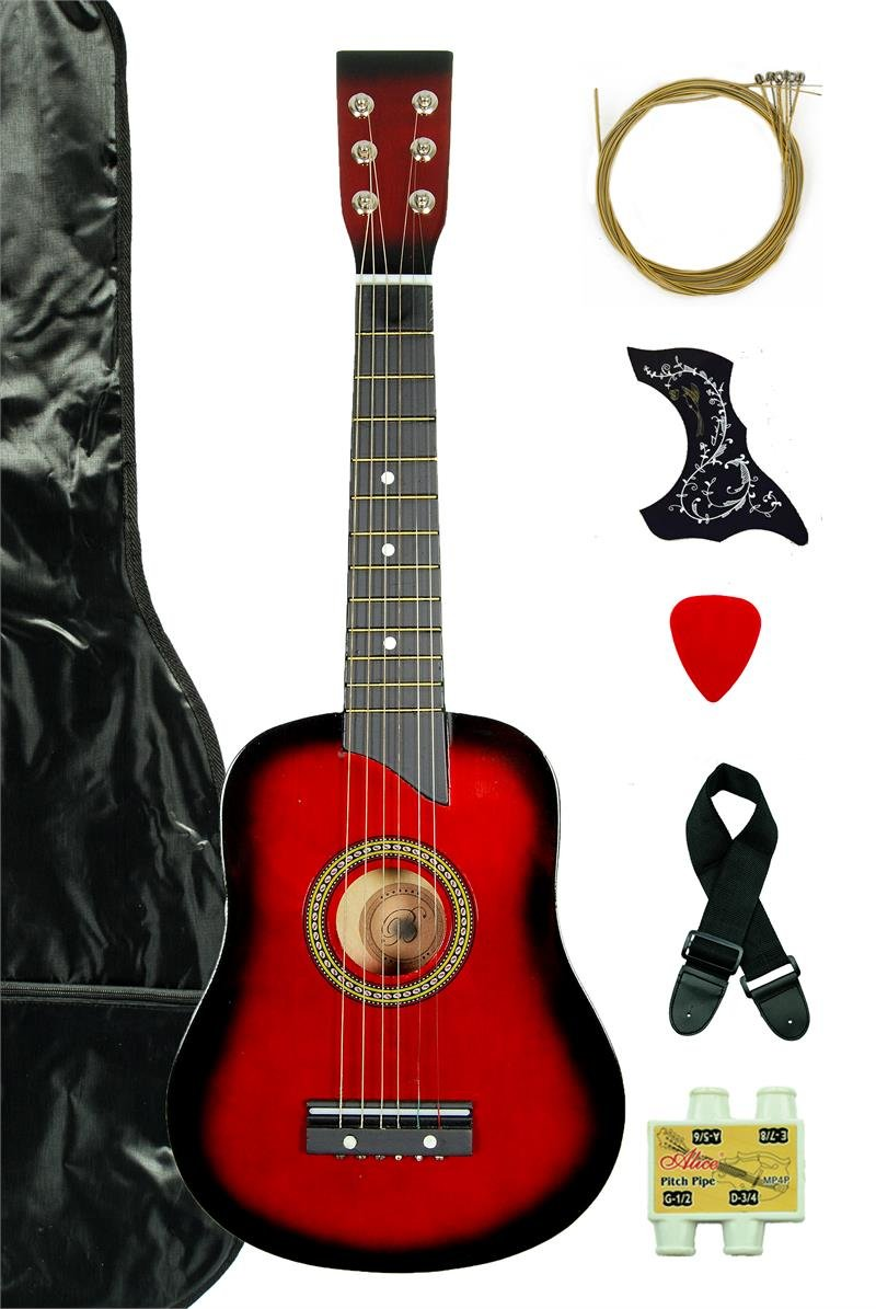 Directly Cheap 6 String Acoustic Guitar Pack, Right, Purple, Children, Women, Adults (000-BT-GA2511R-PLS)