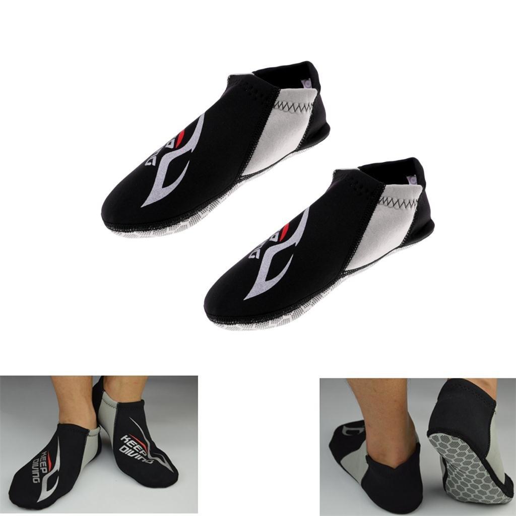 Baoblaze Adult Men Women Non-Slip 3mm Neoprene Aqua Socks Swim Surf Beach Scuba Diving Water Sports Wetsuit Shoes Boots Fins