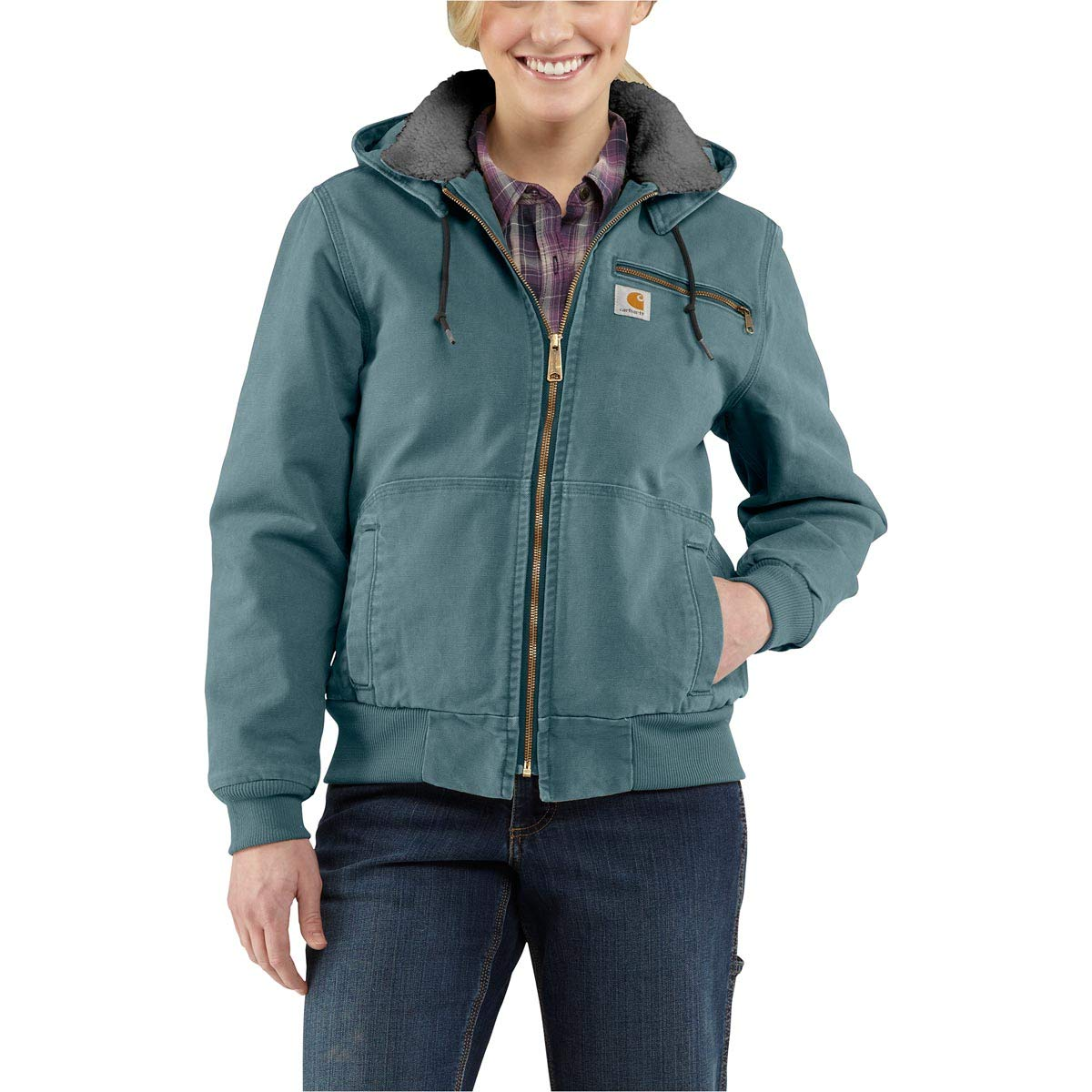 Carhartt Women's Wildwood Jacket, Sea Glass, Large by Carhartt