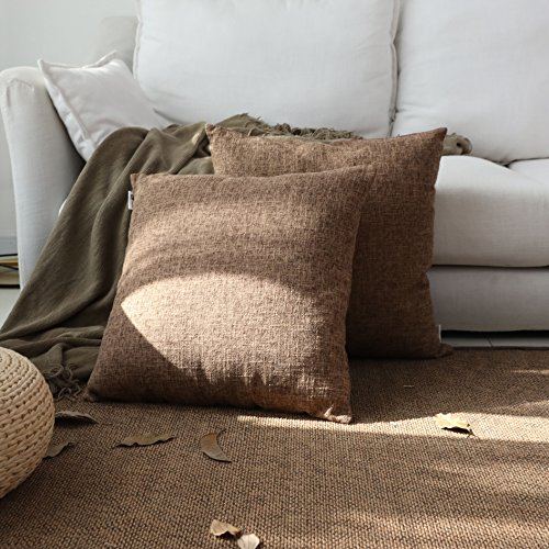Kevin Textile Decor Lined Linen Pillow Cover Square Woven Fi