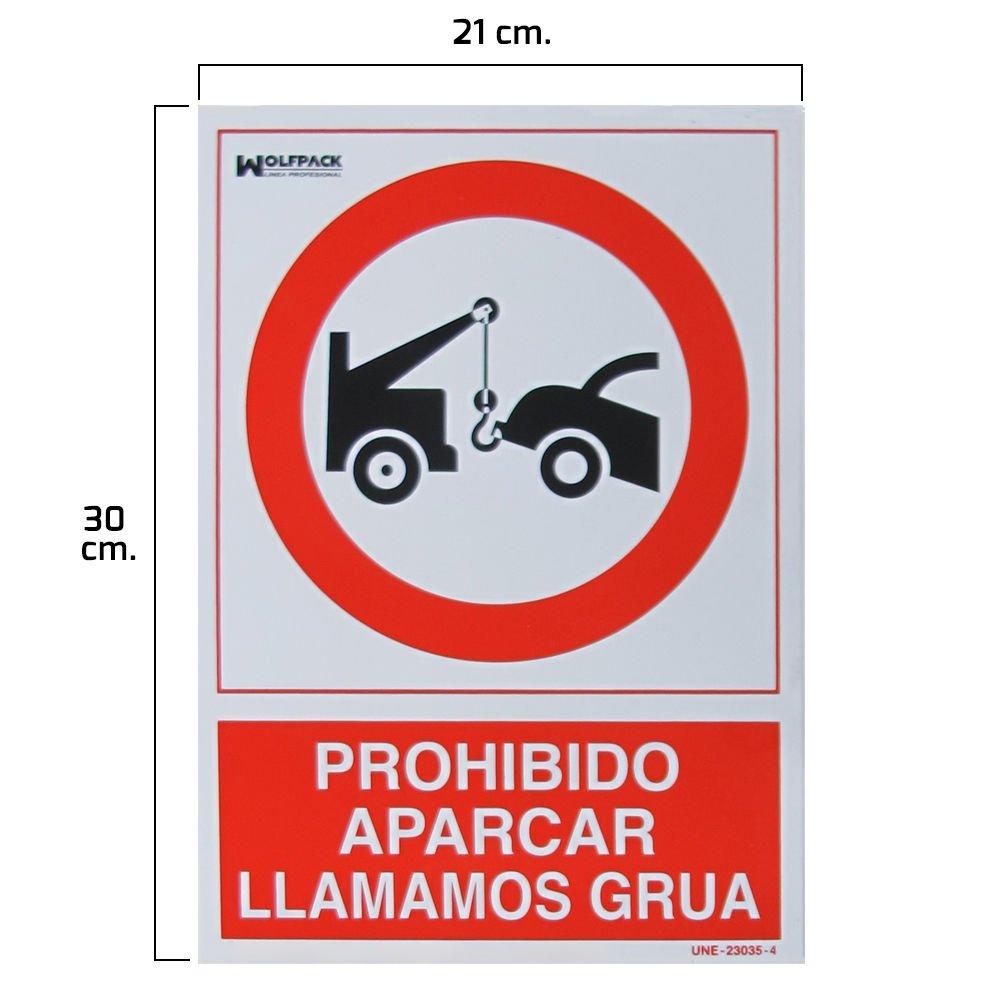 Wolfpack 15050560 Cartel Prohibido Aparcar Llamamos Grú a, 30 x 21 cm