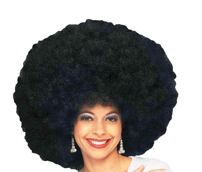 Amazon Forum 70s Disco Deluxe Jumbo Afro Wig Black One Size