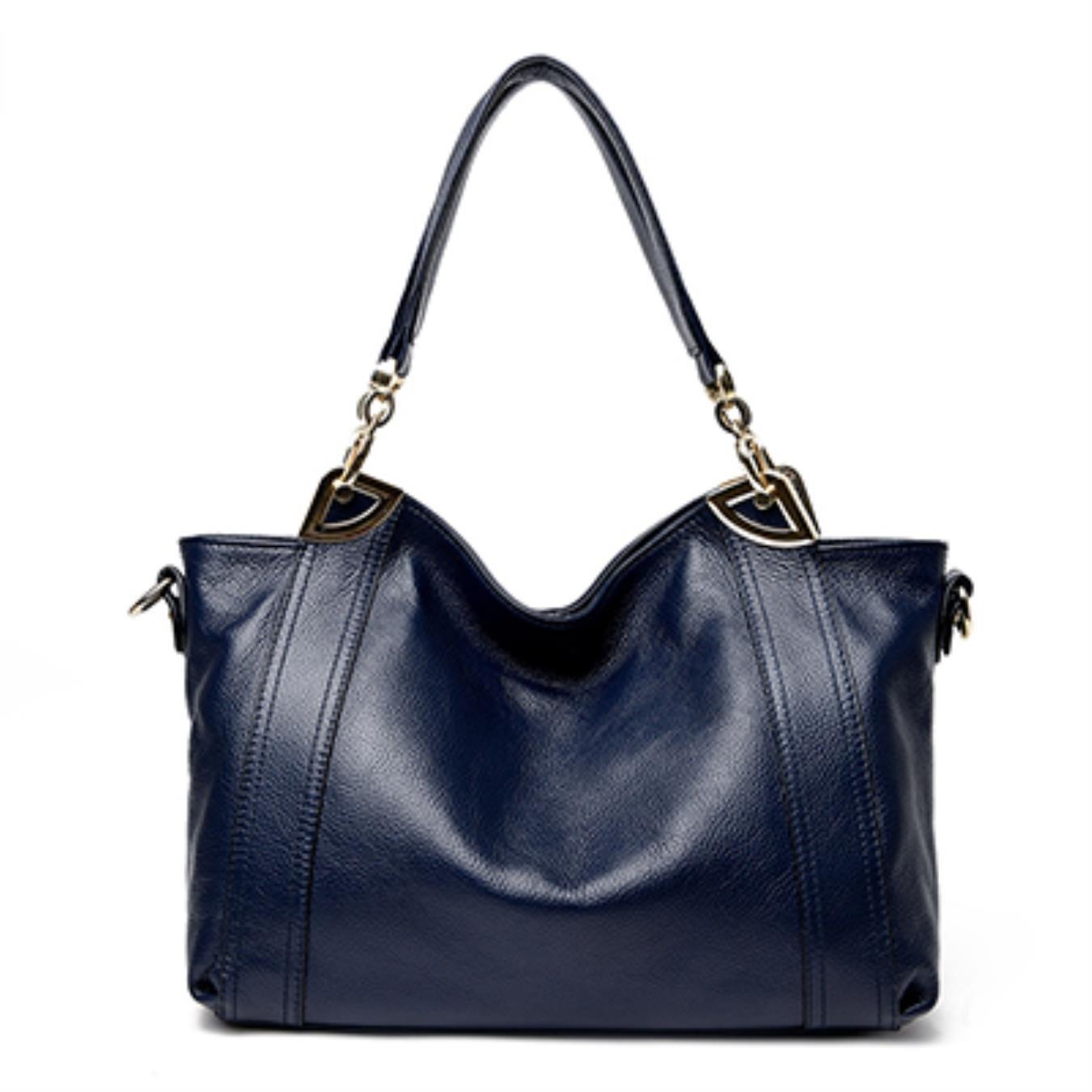 bluee Ladies Genuine Leather Bags Handbags Women Bag Ladies Designer Crossbody Bags Black Sac