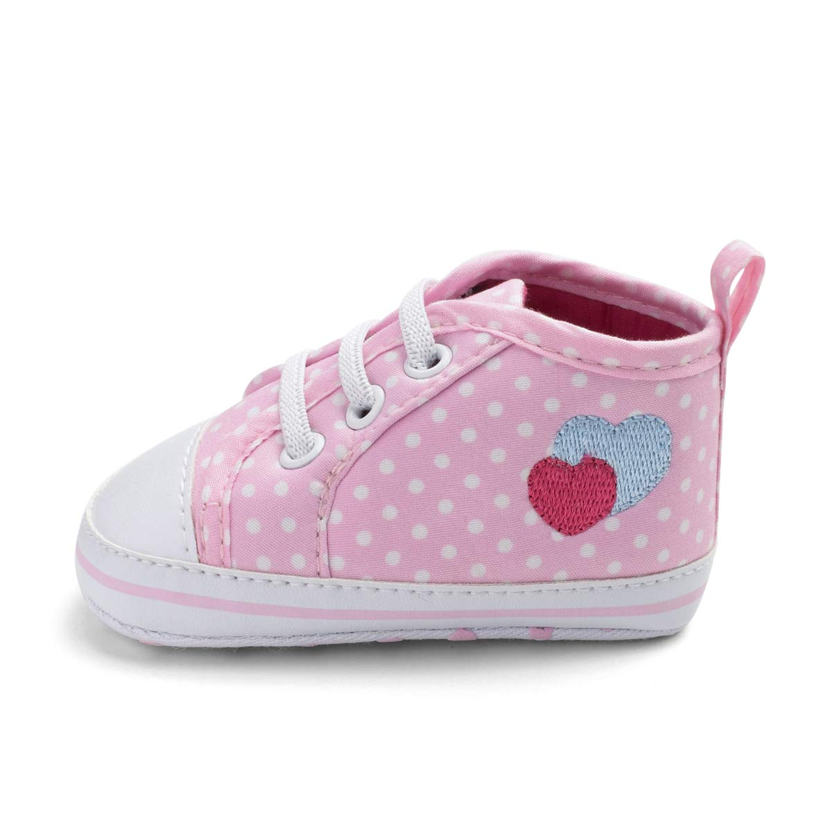 Togudot Unisex Baby Boys Girls Star High Top Sneakers Soft Anti-Slip Sole Infant First Walkers Canvas Shoes 0-18 Months
