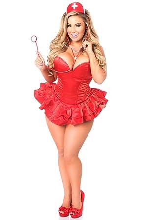 69ed711f6 Amazon.com  Daisy Corsets Women s Top Drawer Plus Size Nurse Corset ...