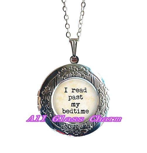 Amazon charming locket necklace beautiful locket necklace charming locket necklacebeautiful locket necklacebook locket pendant i read past my aloadofball Choice Image