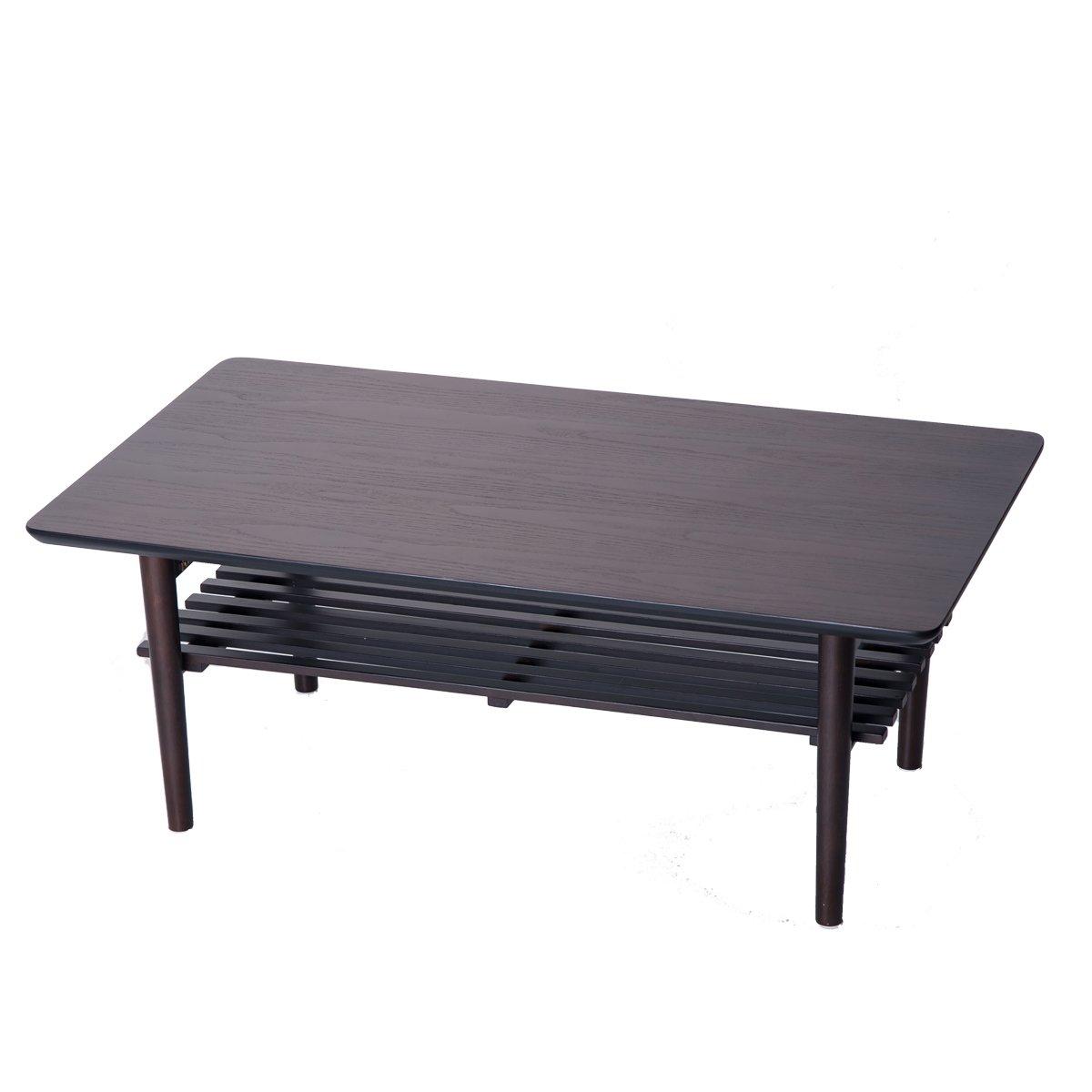 (OSJ) センターテーブル ローテーブル コーヒーテーブル ちゃぶ台 (90X50CM) WF035701 (ダークブラウン) B073BB6DLH ダークブラウン ダークブラウン