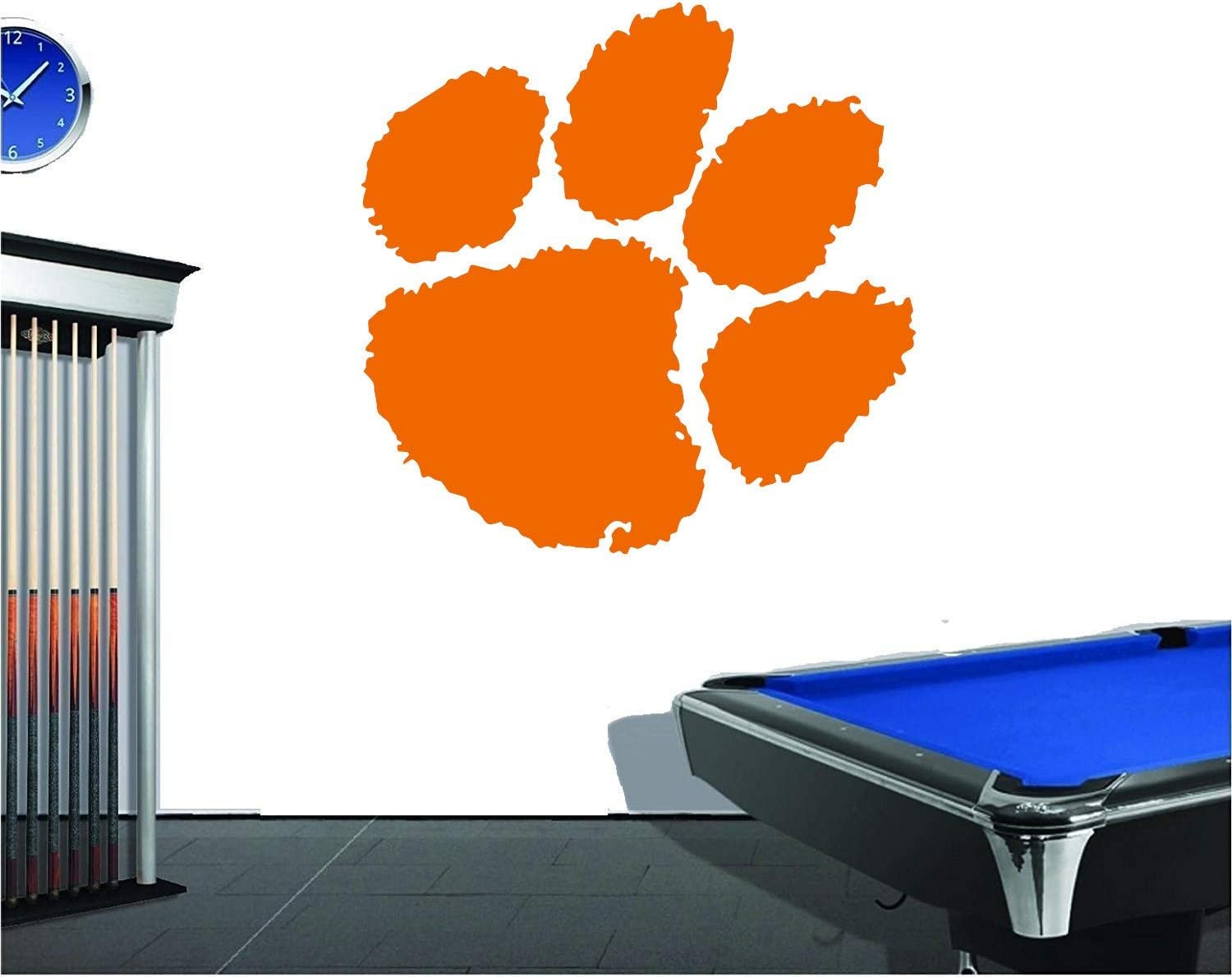 AdecalsNew Large Clemson Tigers Paw Man Cave College Football Wall Decor Decal Vinyl Sticker Made in USA Fast DELIVERY!