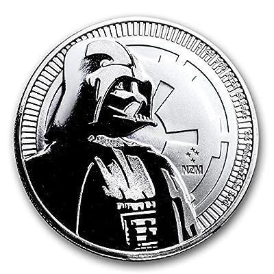 2017 Niue 1 oz Silver $2 Star Wars Darth Vader BU 1 OZ Brilliant Uncirculated