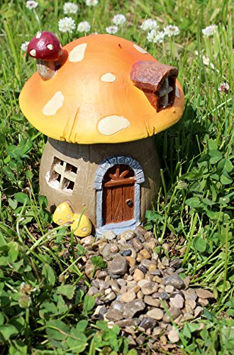 Special T Imports Light Up Fairy Garden House (Mushroom)