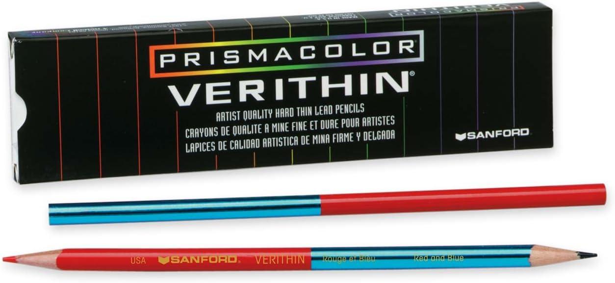 12 Count Red//Blue Prismacolor Verithin Colored Pencil
