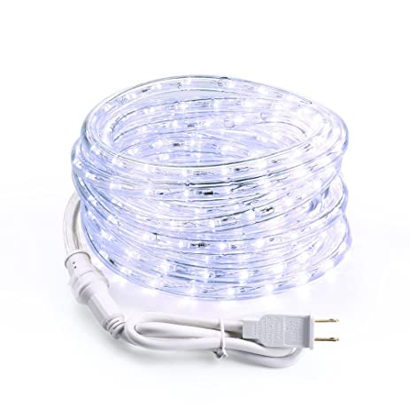 Amazon brizled led rope lights 18ft 216 led string lights brizled led rope lights18ft 216 led string lights with clear pvc tube 120v aloadofball Image collections