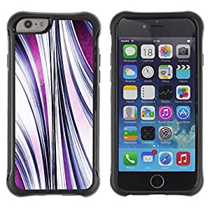 WAWU Rugged Armor Slim Protection Case Cover Shell -- lines abstract purple flow -- Apple Iphone 6 PLUS 5.5