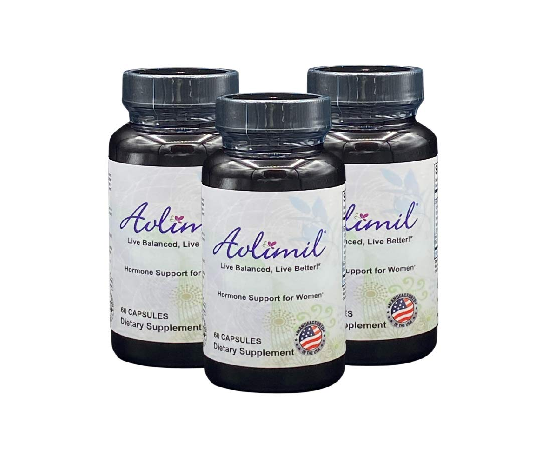 Avlimil® Hormone Balance & Menopause | Relief from Mood Swings, Hot Flashes, Night Sweats and Irritability - Isoflavones, Black Cohosh, Raspberry, Valerian, Sage, Red Clover, Lemon Balm - 3 month
