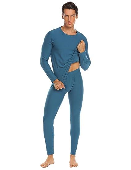 ed34602fe Langle Mens Long Johns Cotton Thermal Pajamas Plus Size Winter Set Warm  Underwear S-XXL