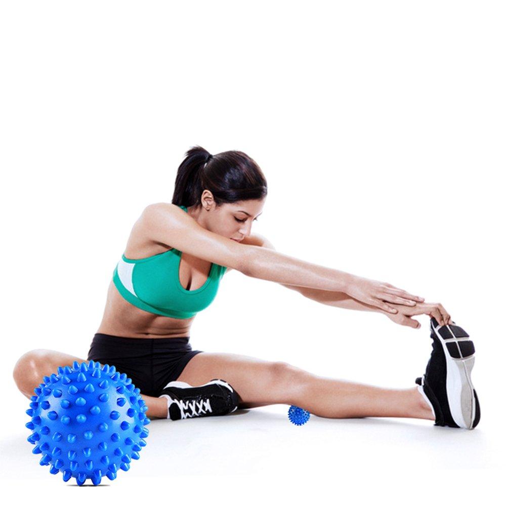 GALYGG Deep Tissue Spiky Massage Balls for Foot, Neck, Back - Blue - 1 Pack
