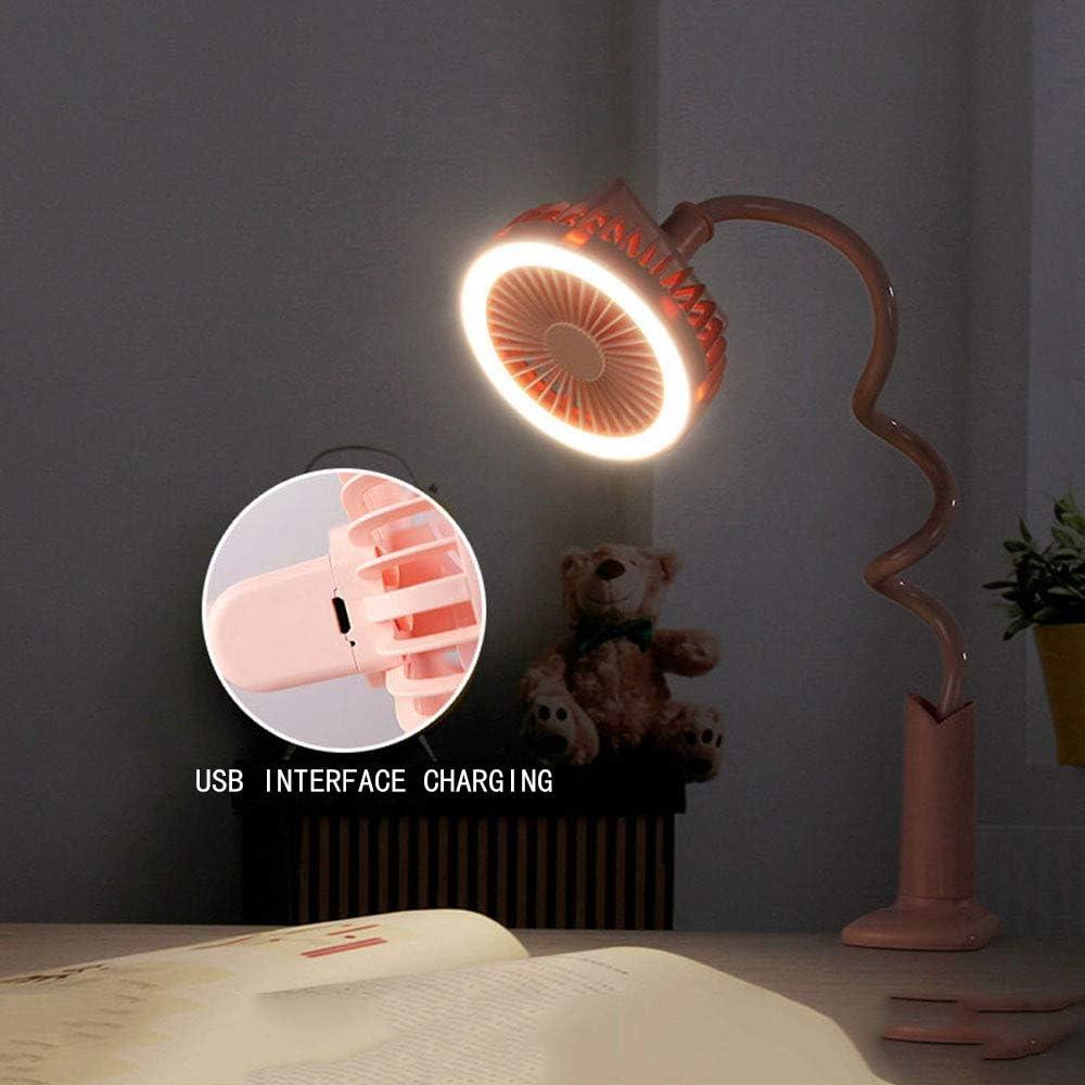 Multi-Function Live Fill Light Fan Telescopic Portable Light Creative Clip Baby Stroller USB Fan ZZC Small Fan