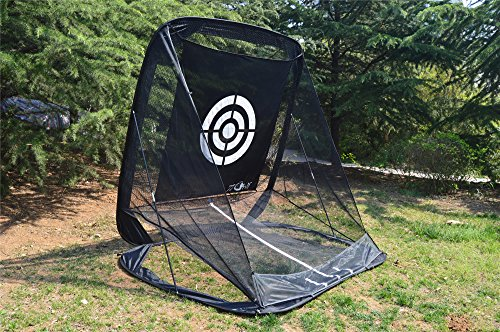 77tech Golf Practice Hitting Net Cage Automatic Ball Return System Tri-ball Golf Driving Chipping Net Training Aid with Target sheet and Two Side Barrier by Golf Net (Image #3)