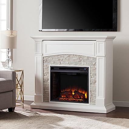 amazon com southern enterprises seneca faux stone electric rh amazon com faux stone electric fireplace best price faux stone electric fireplace tv stand