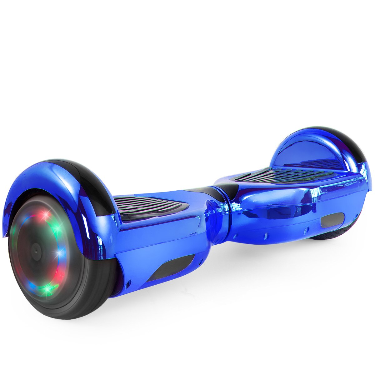 Self Balancing Scooter Hoverboard UL2272 Certified, w/ Bluetooth Speaker and LED Light (Blue)