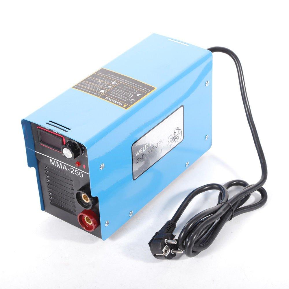 mma-250 Arc Soldadura ad Inverter electrodos 140 A 220 V IGBT para 3,2 mm electrodo: Amazon.es: Bricolaje y herramientas