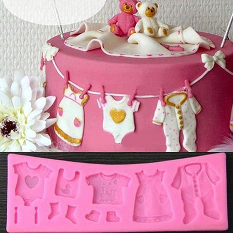 WLM Baby Shower 3D de silicona pasta de azúcar del molde de la torta que adorna
