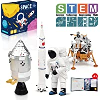 Lehoo Castle Building Toys for 5-8 Year Old, Lunar Space Station Space Shuttle Building Kit Including Astronaut, Rocket, Space Capsule and Lunar Lander, Educational Toys for Boys and Girls, New 2019