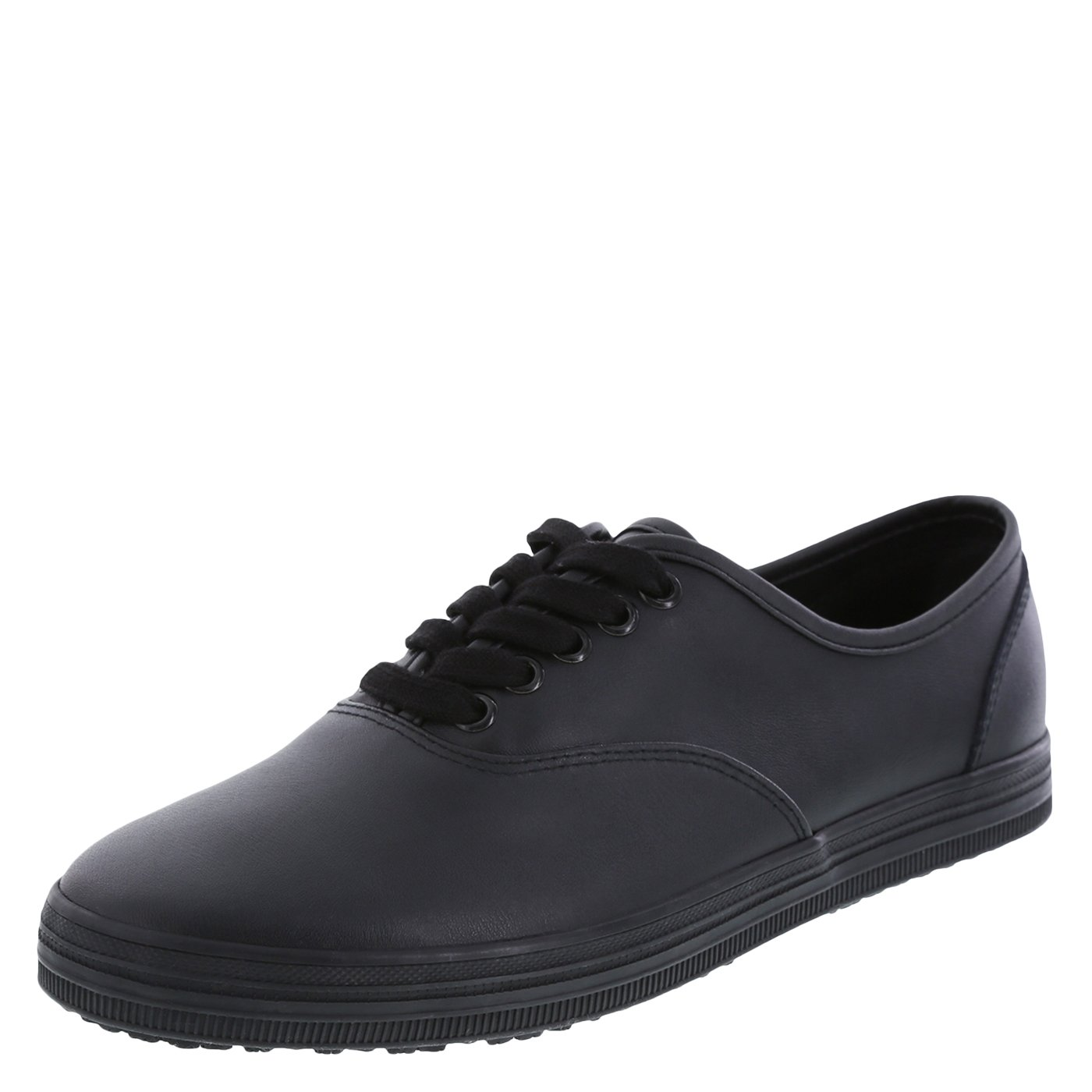 safeTstep Slip Resistant Women's Black Leather Women's Kandice Leather Oxford 7.5 Wide