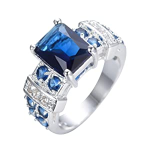 FT-Ring Blue Sapphire Jewelry Wedding Ring For Women Engagement Wedding Bridal Rings (9)