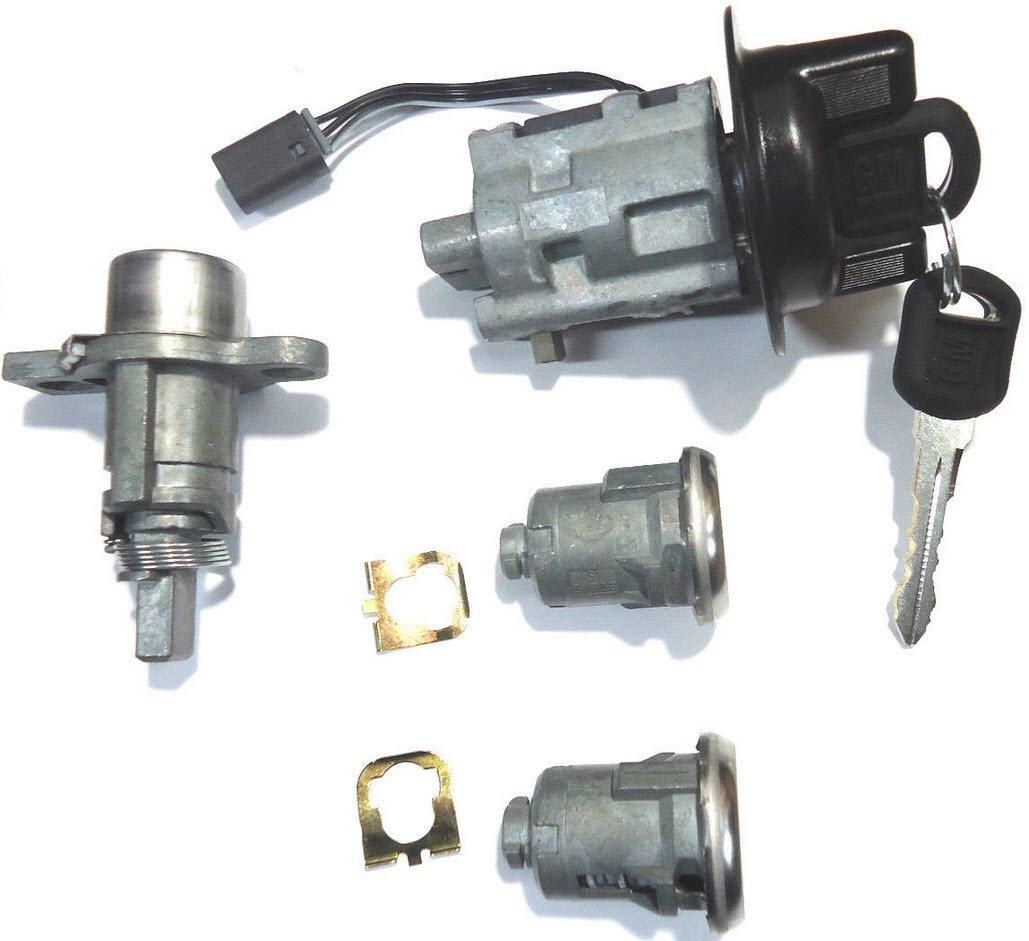 2000-2005 Pontiac Sunfire OEM Ignition/Doors/Trunk Lock Key Cylinder Set With 2 Keys