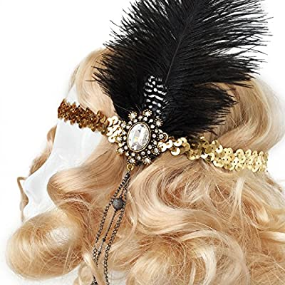 Flapper Costume Headband, Gatsby Costume Headpiece