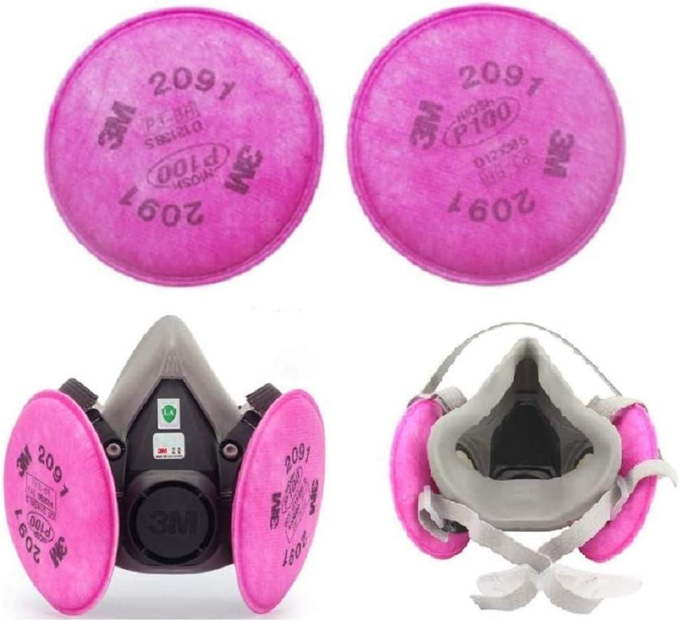 ZYYIN Filtro de partículas 2091 P100, Filtro de Material antipartículas Compatible con 2091 P100, Instalado en 6000 7000 FF-4 Retenedor de Filtro Uso, a Prueba de Polvo (2pcs)