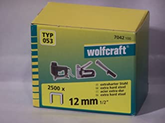 230 V Wolfcraft 794241 Breitr/ückenklammern 230 W 1200 St/ück