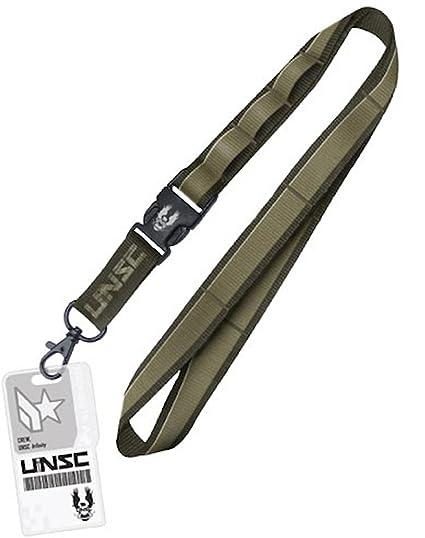Halo UNSC infinity acceso tarjeta extraíble hebilla Llavero ...