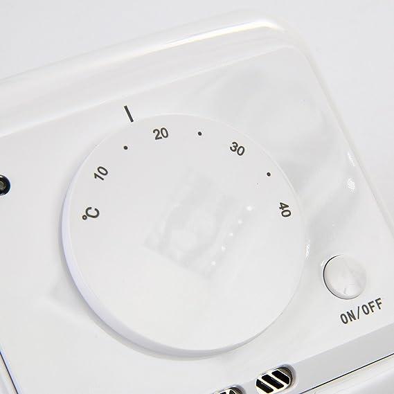 Efikeco sala calefacción termostato, mecánica electrónica controlador de temperatura de termopar: Amazon.es: Bricolaje y herramientas