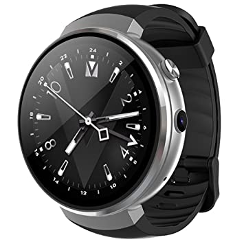 Z28 4G Smart Watch AMOLED écran circulaire 1 + 16 Go Android 7.0 Stepping moniteur de ...