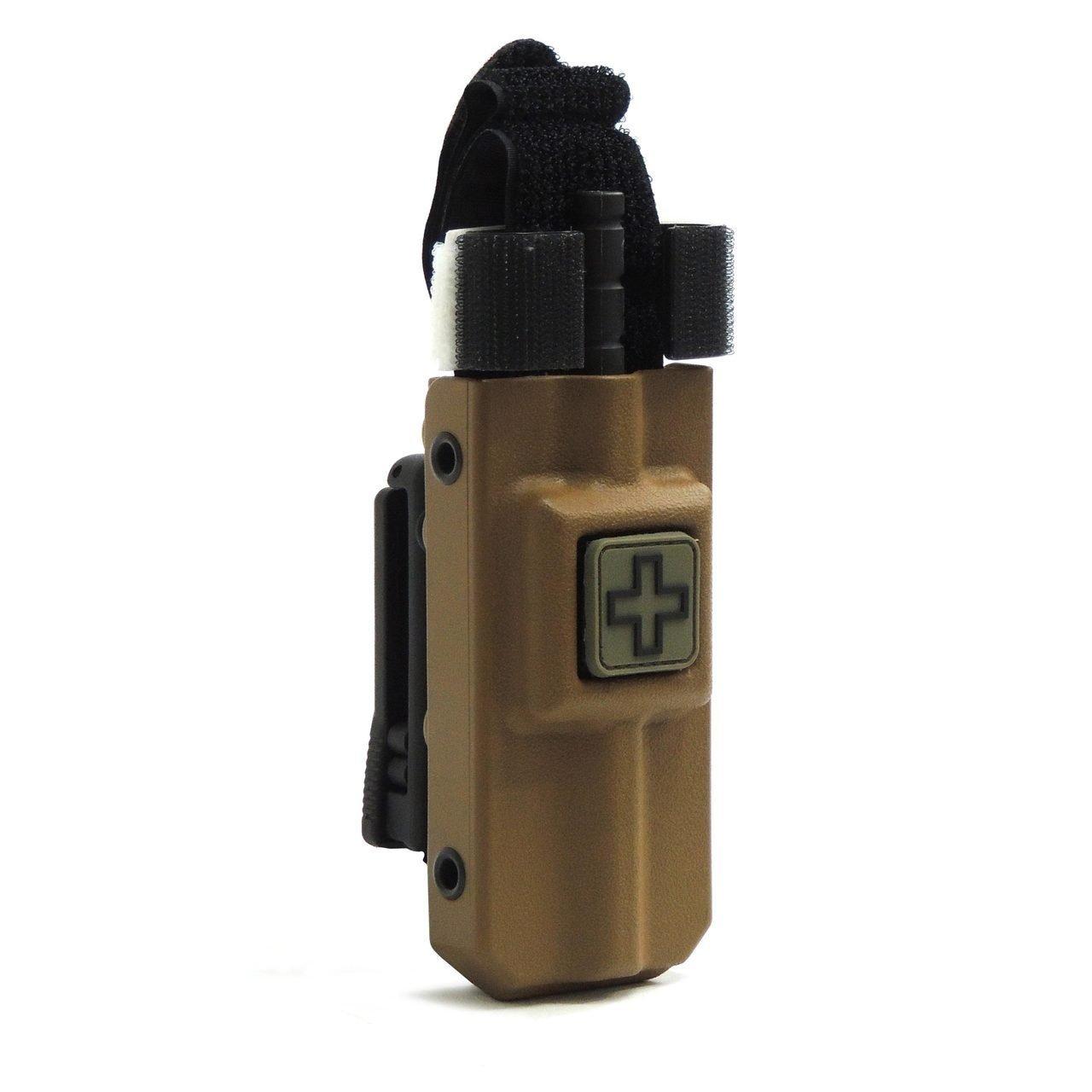 Tourniquet Case: C-A-T® Rigid Tourniquet Case With Tek-Lok Belt Attachment (Coyote Tan)