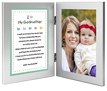 baptism birthday or christmas gift for godmother poem from godchild add photo