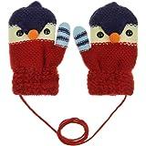 YJZQ Moufle Enfants Gants tricoté en Cachemire Gants Unisexe en Laine Gants  de Ski en Jaquard 5bb2317295e