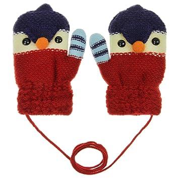 JIAHFR Moufle Enfants Gants tricoté en Cachemire Gants Unisexe en Laine  Gants de Ski en Jaquard 4eb1f696d69