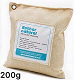 Esther Natural Air Purifying Bag, Natural Bamboo Charcoal Deodorizer, Naturally Removes Odor & Allergens. Fragrance free, chemical free, and non-toxic. 200g natural