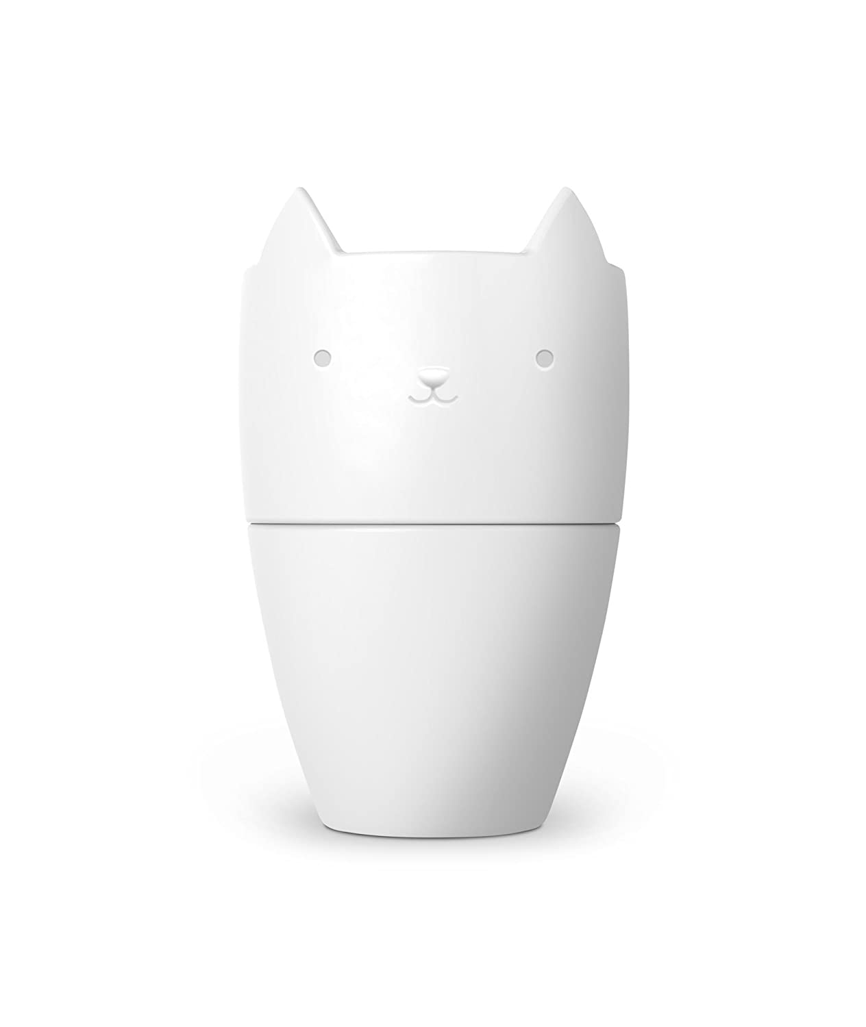 Fred 5229133 Purr Over Cat-Style Porcelain Pour Over Coffee Brewer, White