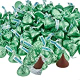 HERSHEY'S Kisses Chocolate Candy, Light Green, 4.1