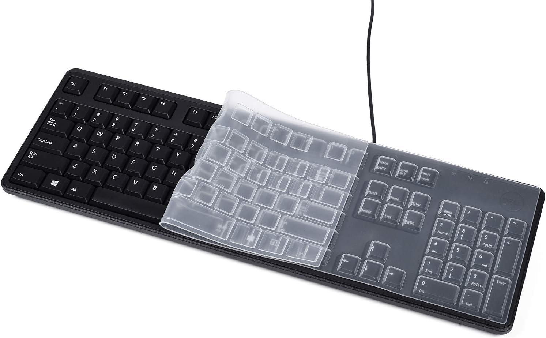 CaseBuy Ultra Thin Silicone Desktop Keyboard Cover Skin Protector for Logitech Keyboard K120 MK120 US Version (Clear)
